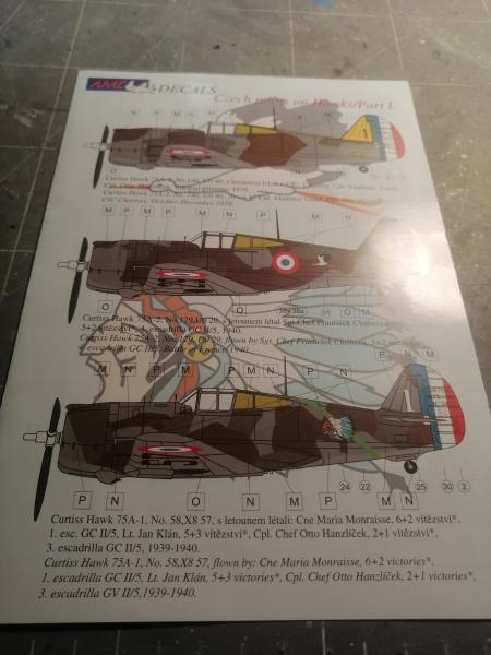 Curtiss Hawk 75 A N° 140 du capitaine Josef Duda Hobby craft 1/48 919