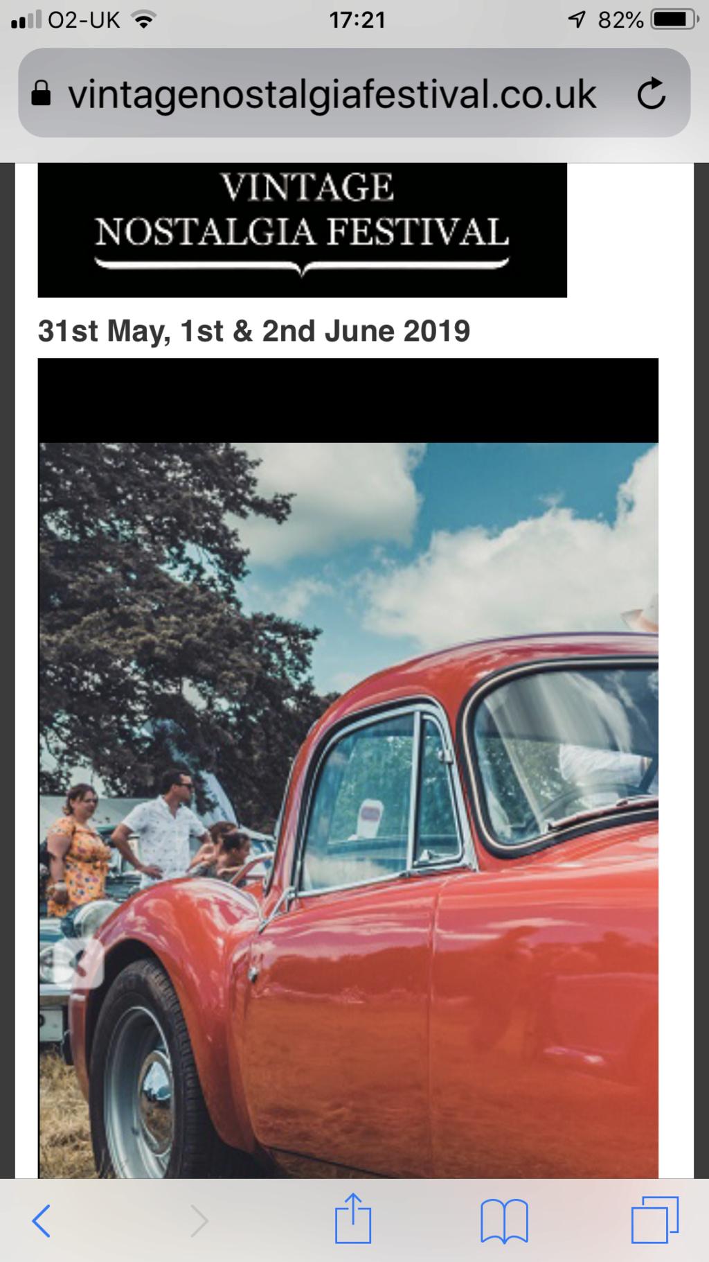 Vintage nostalgia festival. Near Salisbury ish. 31st May- 2nd June 2019 4f5b5510