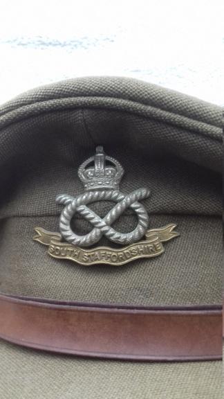 Casquette d'officier britannique WW1 South Staffordshire regiment 20180712