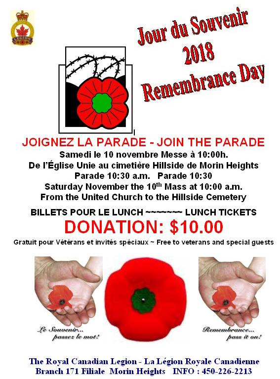 Remembrance Day November 10 2018 45132511