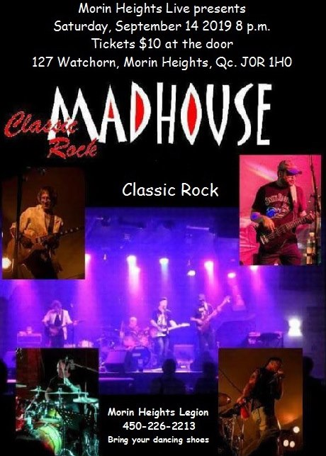 MadHouse Classic Rock September  14 2019 8 PM. 69233610