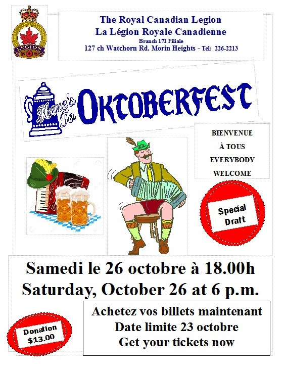 Oktoberfest Supper Saturday October 26 6PM 72146110