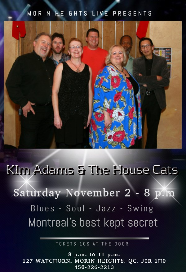 Kim Adams & The House Cats November 2 2019 8PM 75252910