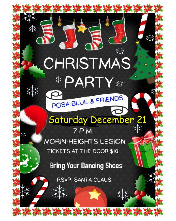 Posa Blue & Friends  Christmas Party December 21 7PM 75429410