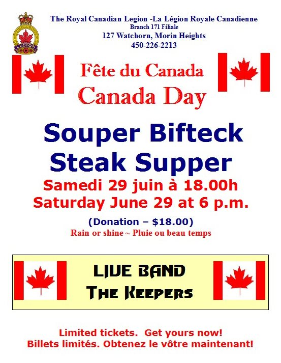 Canada Day Steak Supper June 29 2019 Canada10