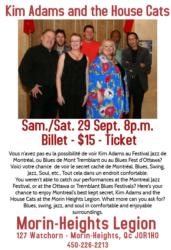 Kim Adams and the House Cats Sam./Sat 29 Sept. 8p.m. Kim_ad10