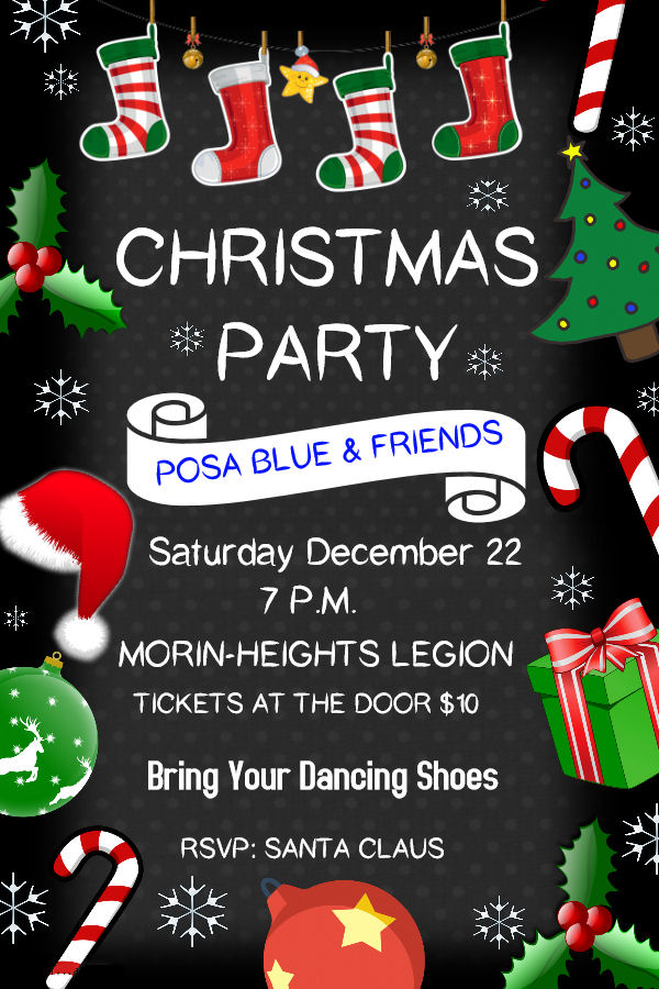 Christmas Party /w Posa Blue & Friends Saturday December 22 2018 Posa_b10