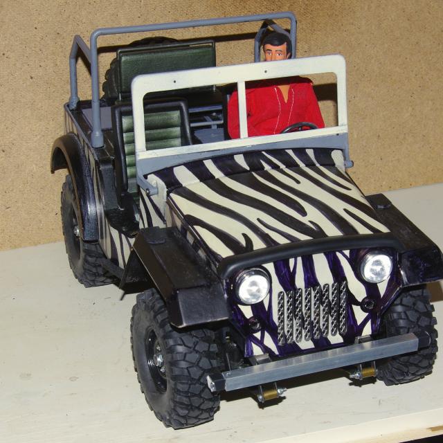 Veroma Jeep 1:8  Umbau Jeep210