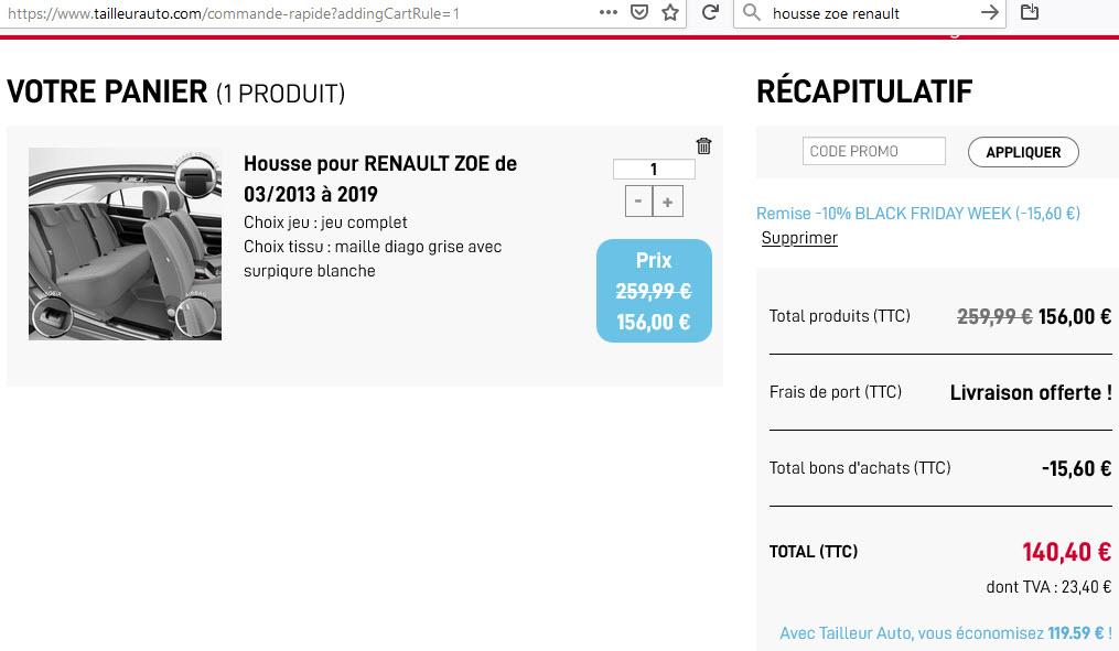 Housse de siège - tailleurauto.com Panier10