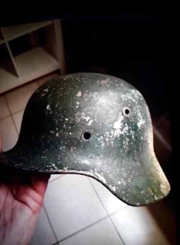 identification casque Allemand 39/45 couleur VERTE 51782110