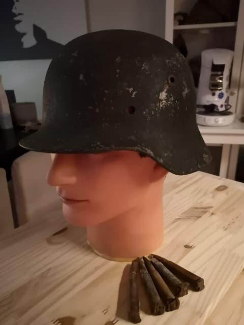 identification casque Allemand 39/45 couleur VERTE 51934310