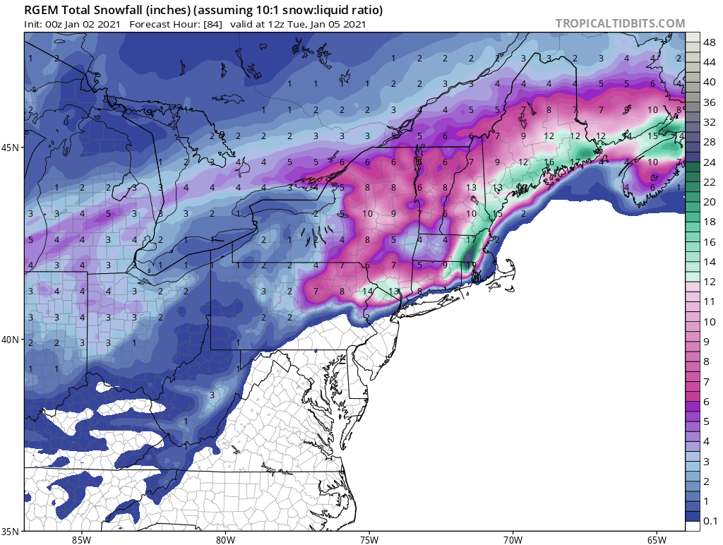 JAN 3rd Storm: I-84 First Snow of 2021 Rgem_a10