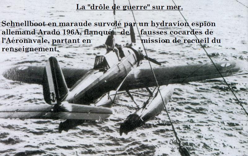 """La """"drôle de guerre"""" sur mer. E-boat (Schnellboot / S-boot) Airfix & Arado Revell 1/72ème. Arado-10"""