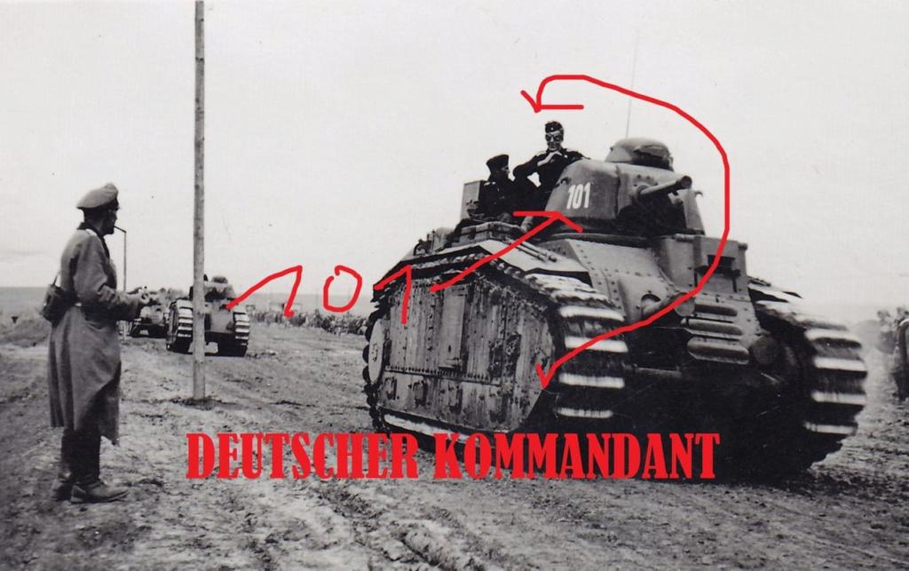 Nos chars Lourds B1-B1bis aux mains des Allemands. 101-0110