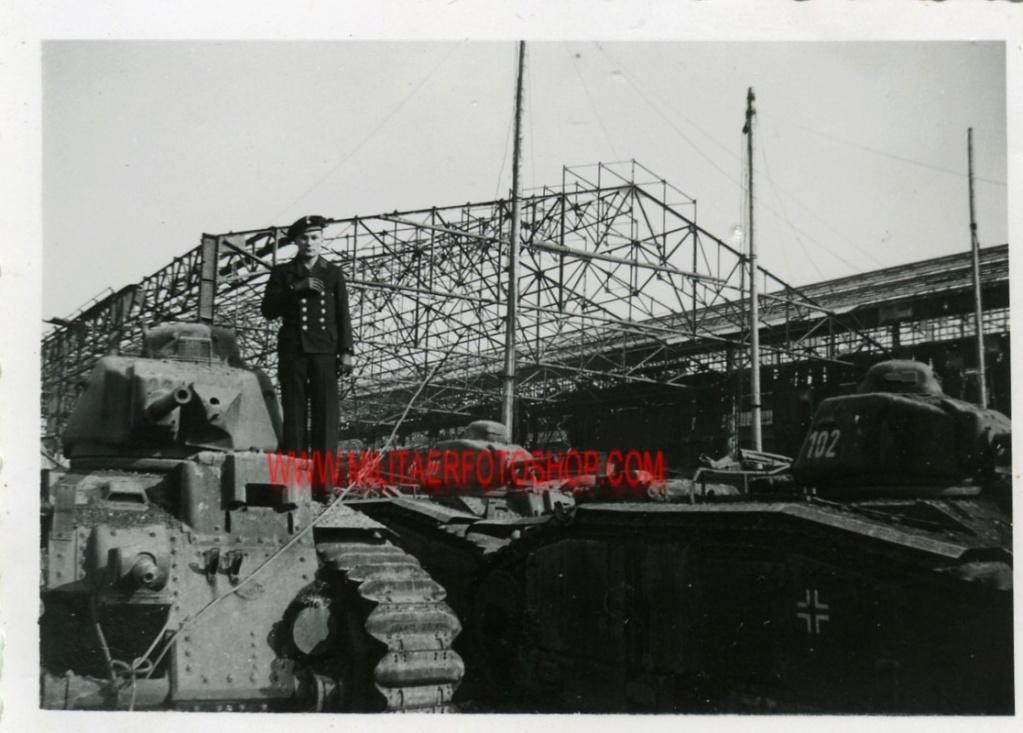 Nos chars Lourds B1-B1bis aux mains des Allemands. 102-0710