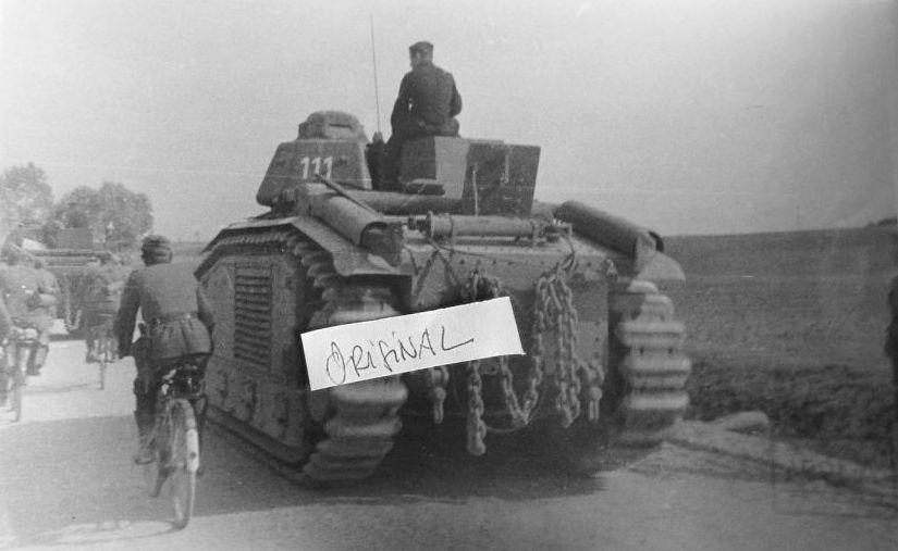 Nos chars Lourds B1-B1bis aux mains des Allemands. 111-0210