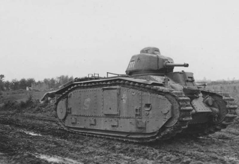 Nos chars Lourds B1-B1bis aux mains des Allemands. 111-0410