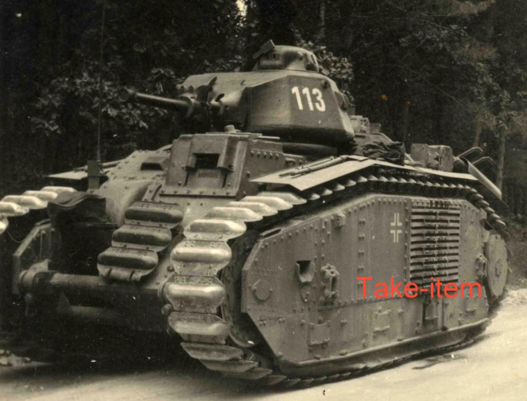 Nos chars Lourds B1-B1bis aux mains des Allemands. 113-0111