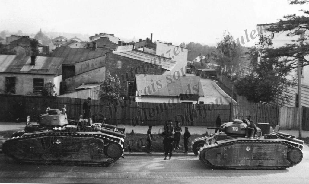 Nos chars Lourds B1-B1bis aux mains des Allemands. 113-0310