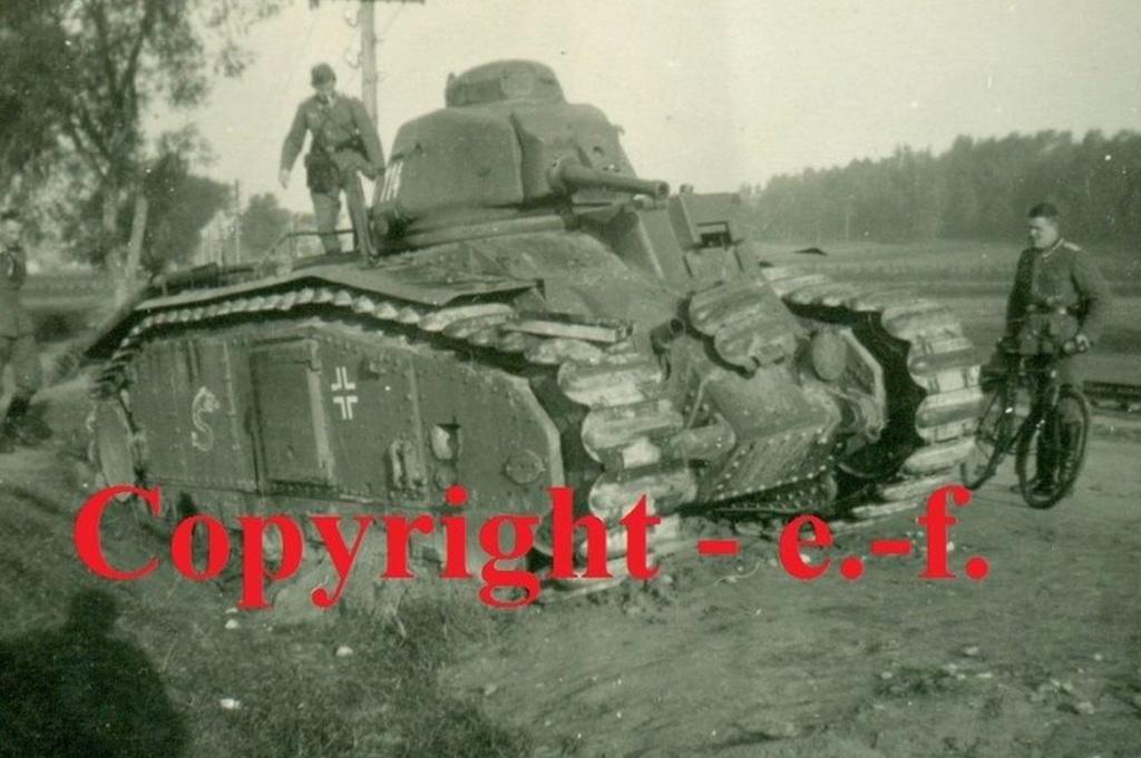 Nos chars Lourds B1-B1bis aux mains des Allemands. 114-0110
