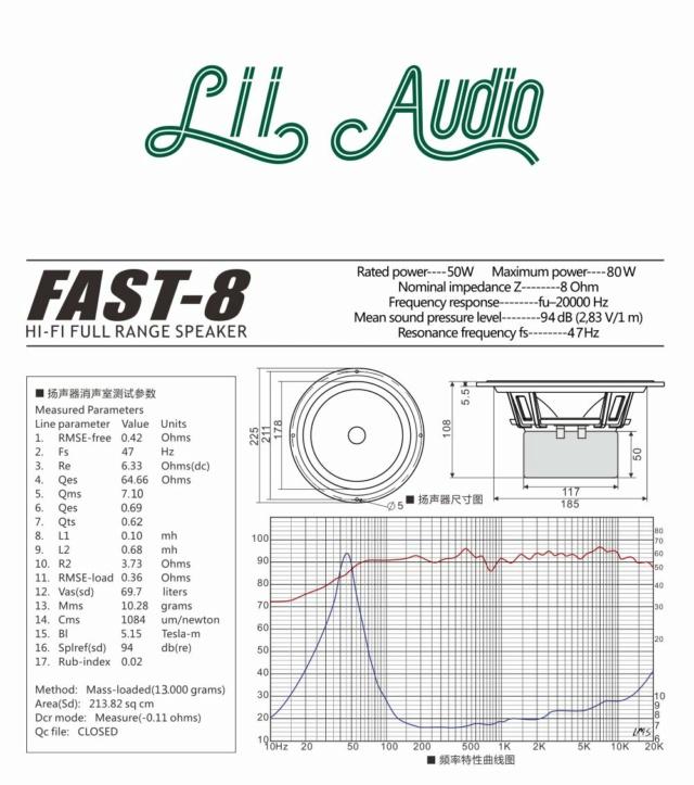 Lii Audio Fast-8 Fullrange Speaker F8-512