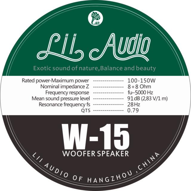 Lii Audio W-15 Woofer Lii-au13