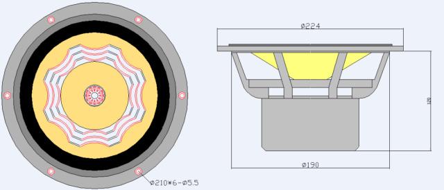 Lii Audio Silver 8 Fullrange Driver (8 inch) Silver11