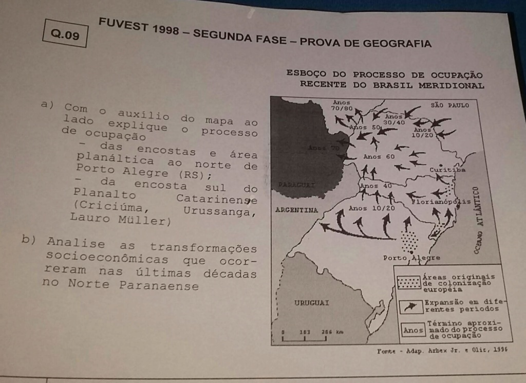 fuvest 1998 - 2ª fase - sul (difícil) (sem gab.) Img-2018
