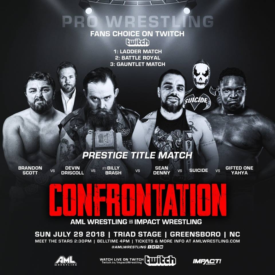 AML Wrestling VS Impact Wrestling - Confrontation 29 Juillet 2018 Aml510