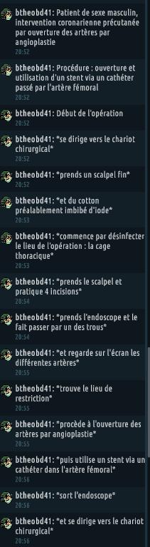 [C.H.U] Rapport d'actions RP de btheobd41 418