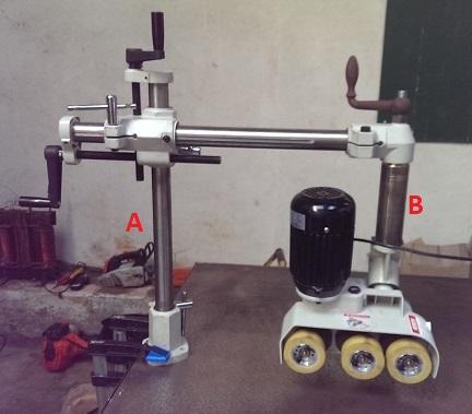Modification Entraîneur Lurem AF32 – pivot 360 ° de l'ensemble moteur/roues 2_rota10