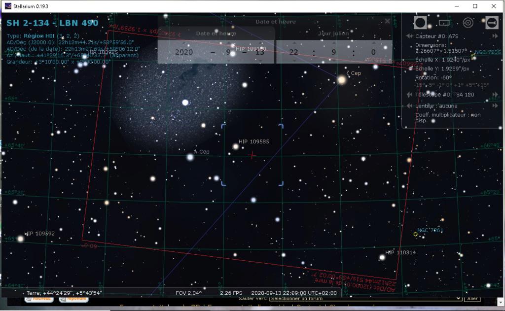 3 Flares satellite dans SH2-134 3_flar10