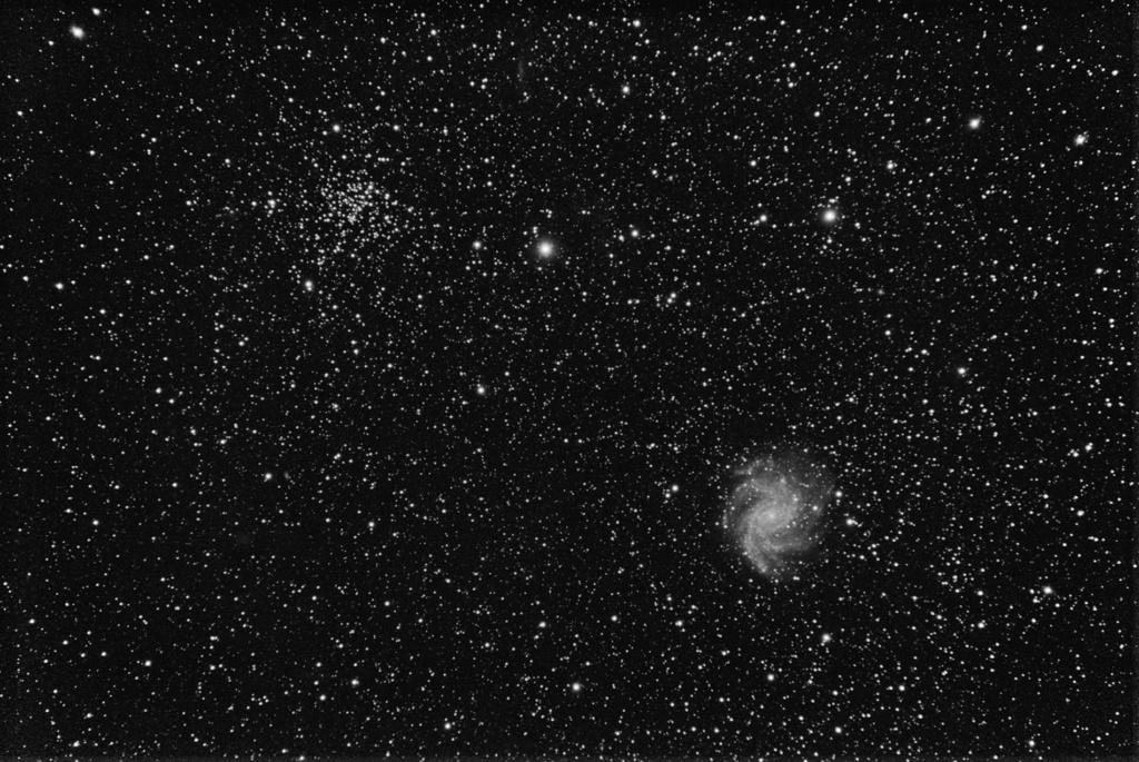 NGC6939 et NGC6946 Amas ouvert et galaxie Ngc69310
