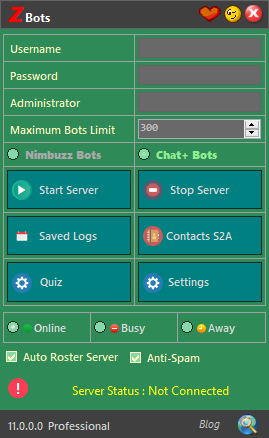 zBots 11.0.0 Updates | Download New Serverbot for Chat+ 110