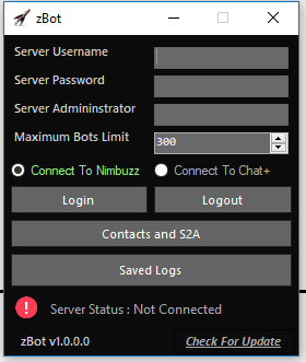New Server Bot |  zBots Multi Server Bot For Chat+ And Nimbuzz Captur10