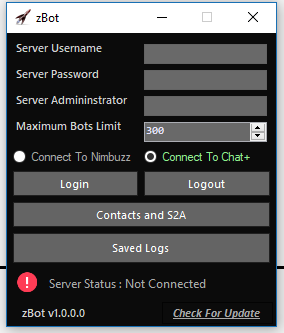 New Server Bot |  zBots Multi Server Bot For Chat+ And Nimbuzz Captur11