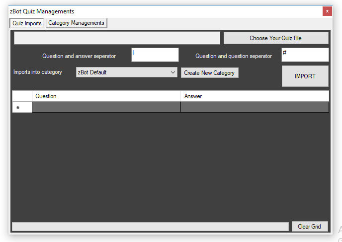zBot 7.2 | AutoReply and Quiz Managements Added Captur23
