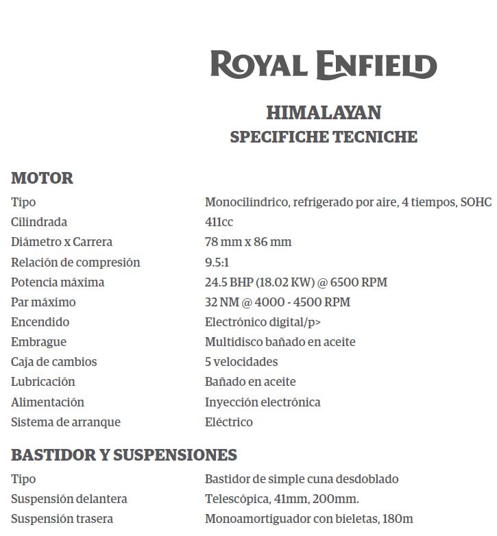 Royal Enfield en Argentina 110