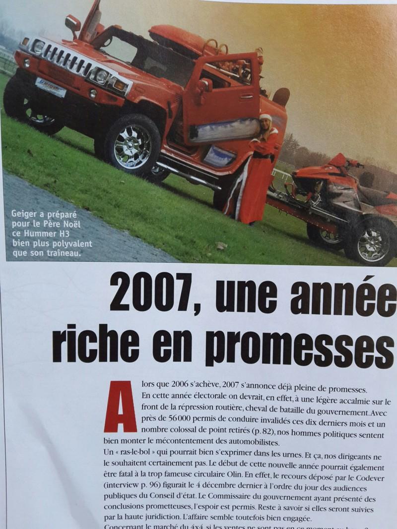Faute de frappe Hummer ;  revue de 2007  ..sujet 4x4,et la je tombe sur une erreur de frappe 20180721