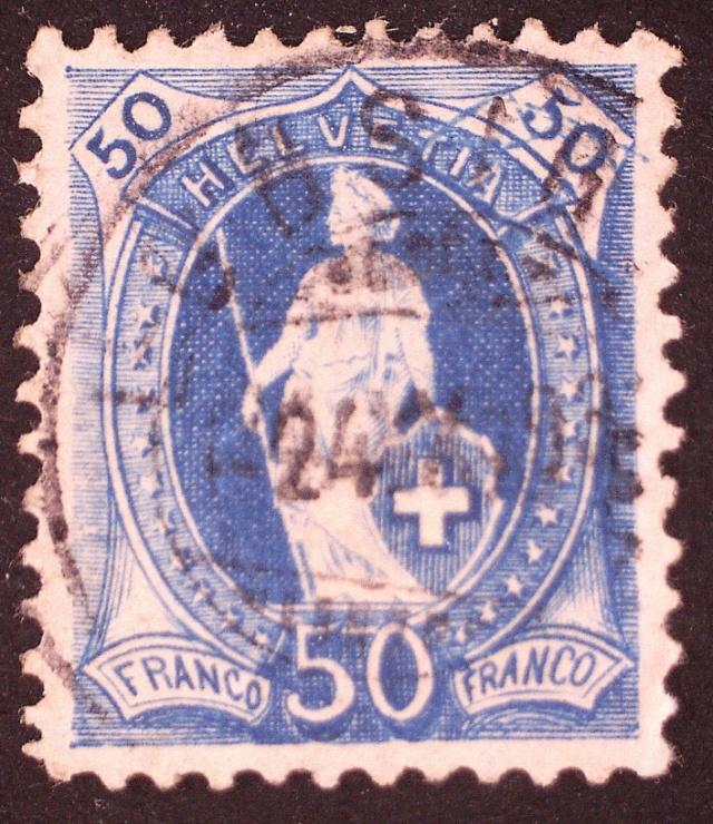SBK 70A, Stehende Helvetia 50 Rp 70ap2610