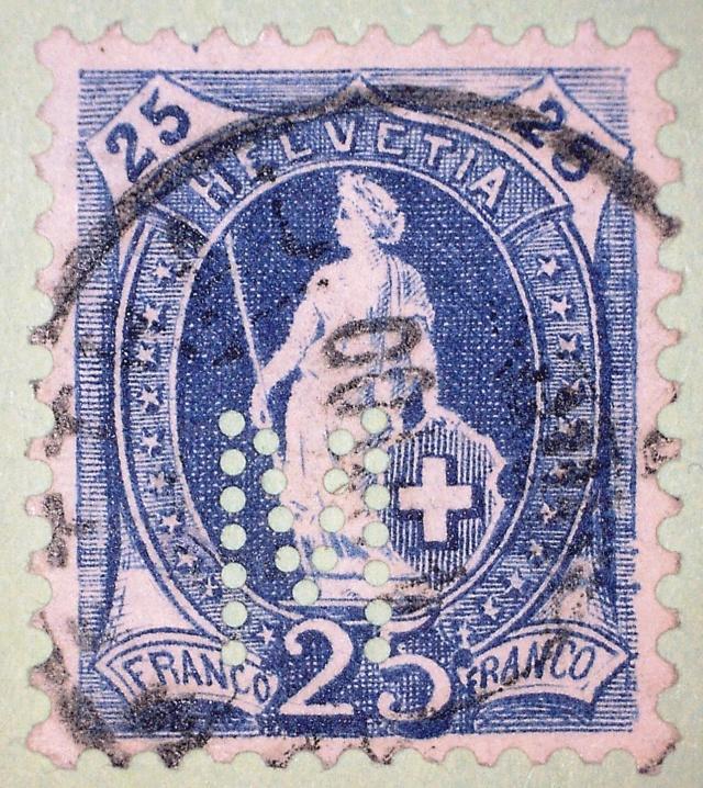 SBK 73D, Stehende Helvetia 25 Rappen 73d2_210