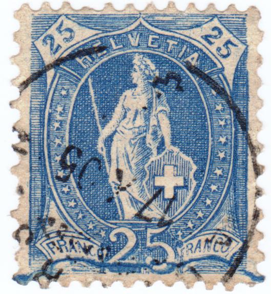 SBK 87A, Stehende Helvetia, 25 Rappen 87a_2_10