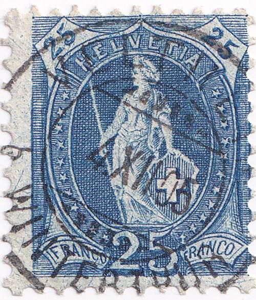 SBK 87A, Stehende Helvetia, 25 Rappen 87a_3_10