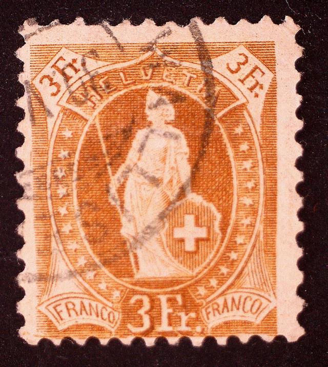 SBK 92A, Stehende Helvetia 3 Fr 92ar3310