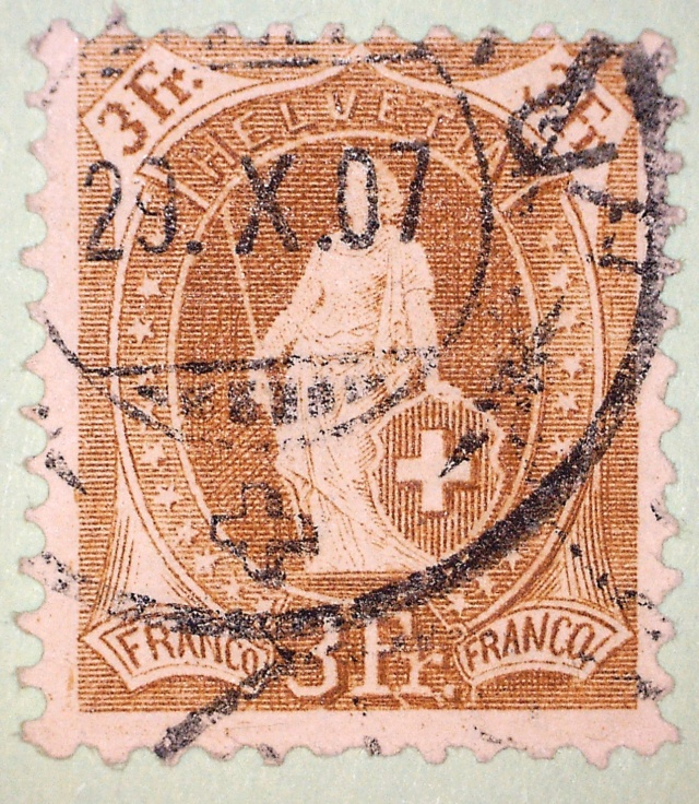 SBK 92C, Stehende Helvetia 3 Fr.  92c3_310