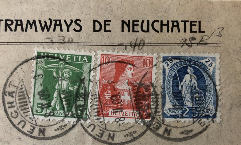 Briefmarken auf Briefstück B3065b10