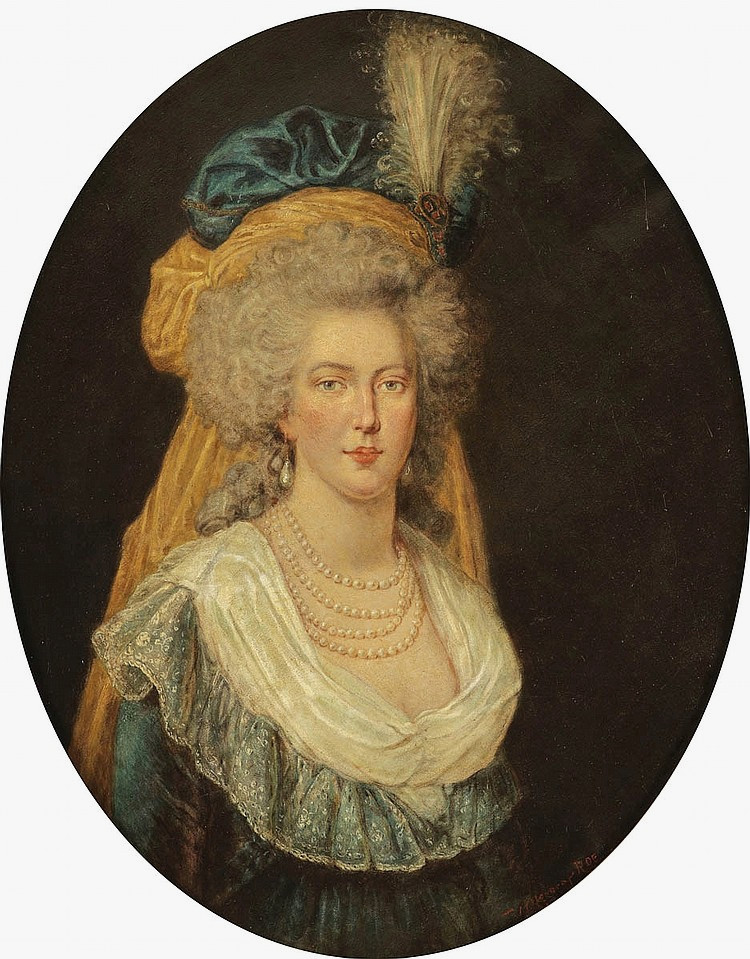 Marie-Antoinette au livre en robe bleue - Page 4 Coiffu10