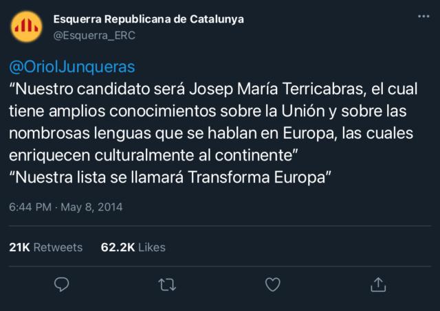 Esquerra Republicana de Catalunya | @Esquerra_ERC 36509110