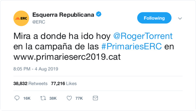 @Esquerra_ERC | Twitter oficial 65b8c510