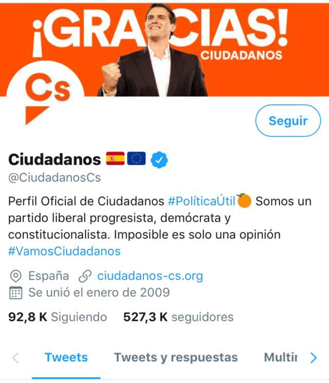 @Ciudadanos|Redes Sociales del partido y sus políticos  85ce8b10